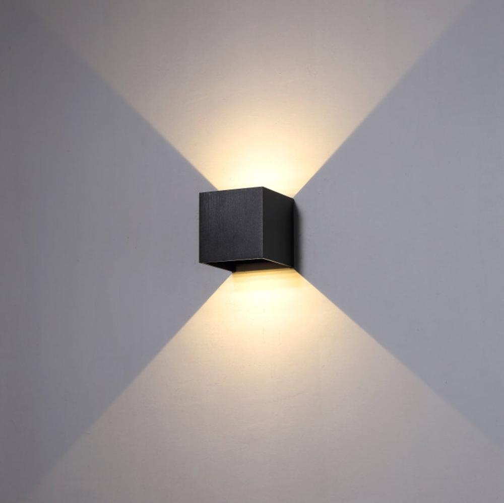 6 Watt Black Finish Up And Down Outdoor Led Wall Light Modern Outside Garden Wall Lighting Feature Exterior Decorative Wall Light In 2020 Wall Lights Outdoor Wall Lamps Up Down Wall Light