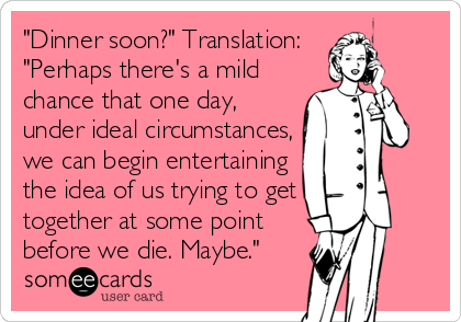 It'll never happen.