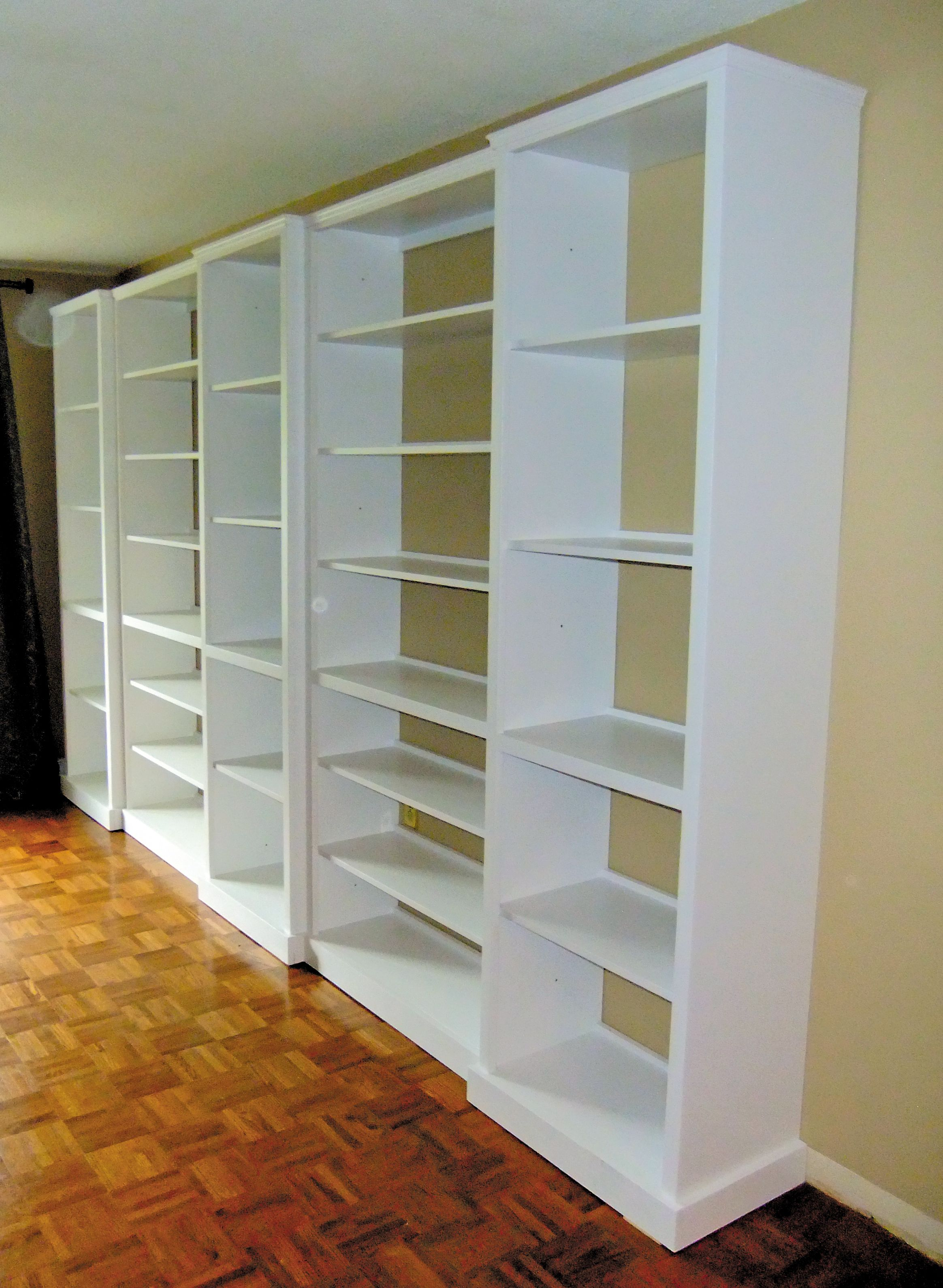 12 Feet Of Shelving Built In 5 Pieces In Staggered