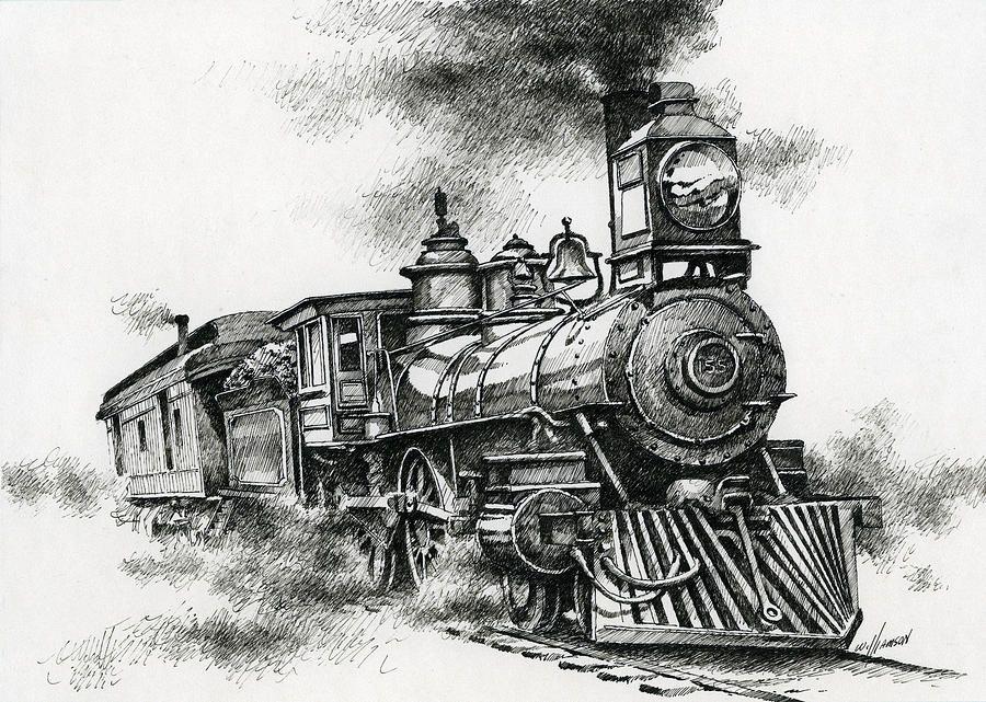 Spirit Of Steam | Train drawing, Train sketch, Train art