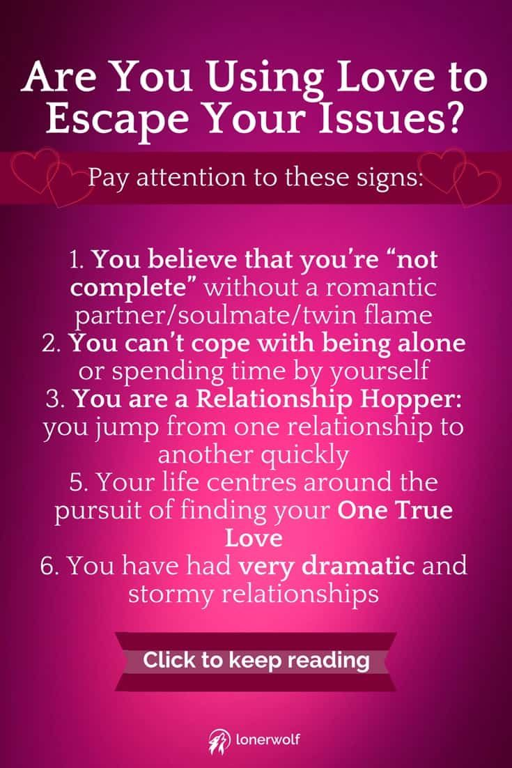 Signs of a love addict