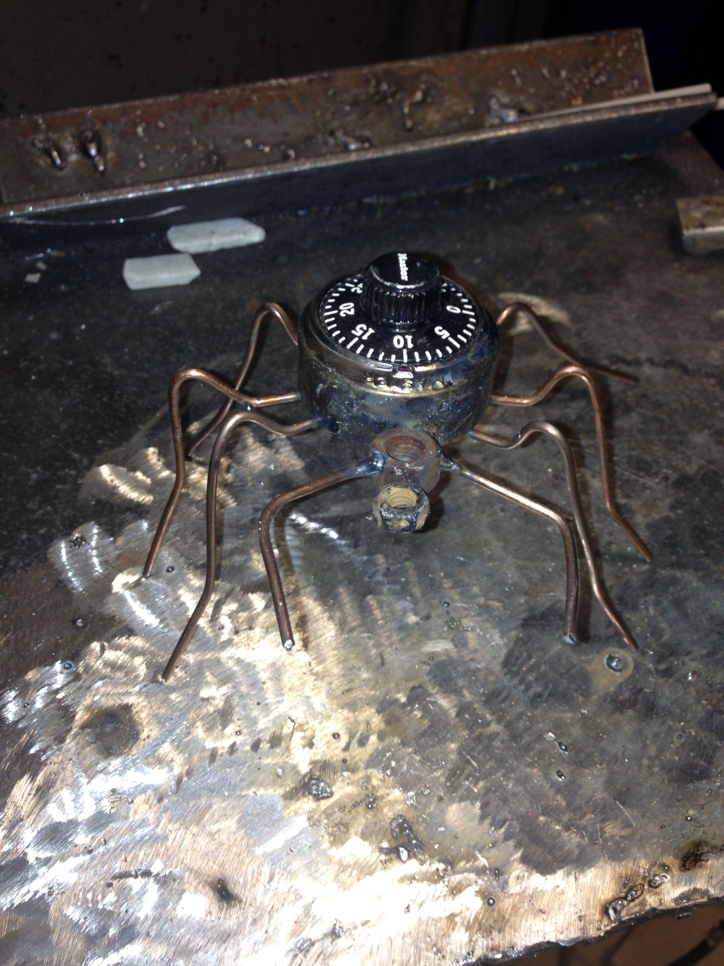 Metal Spider Sculpture Welding Projects Welding Sculpture