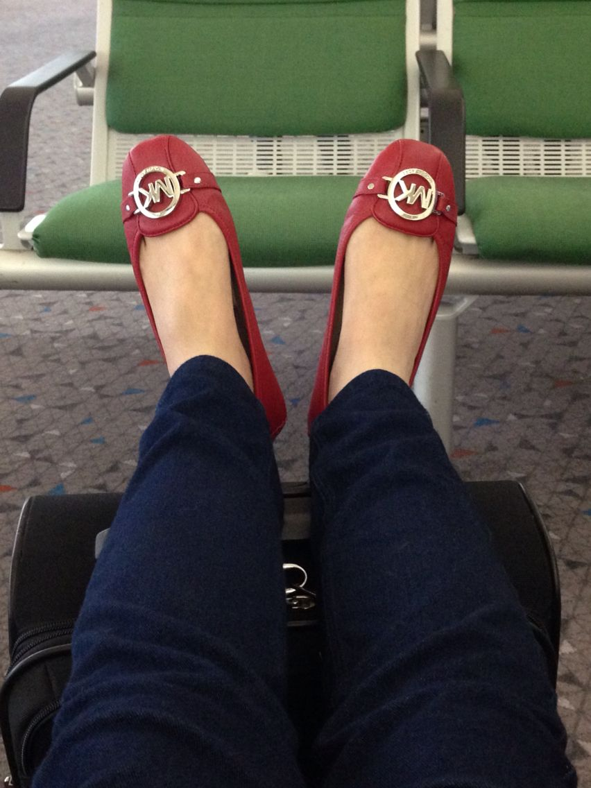 Michael kors fulton flats in red