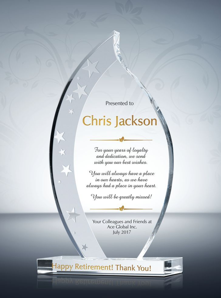 create a custom employee recognition award