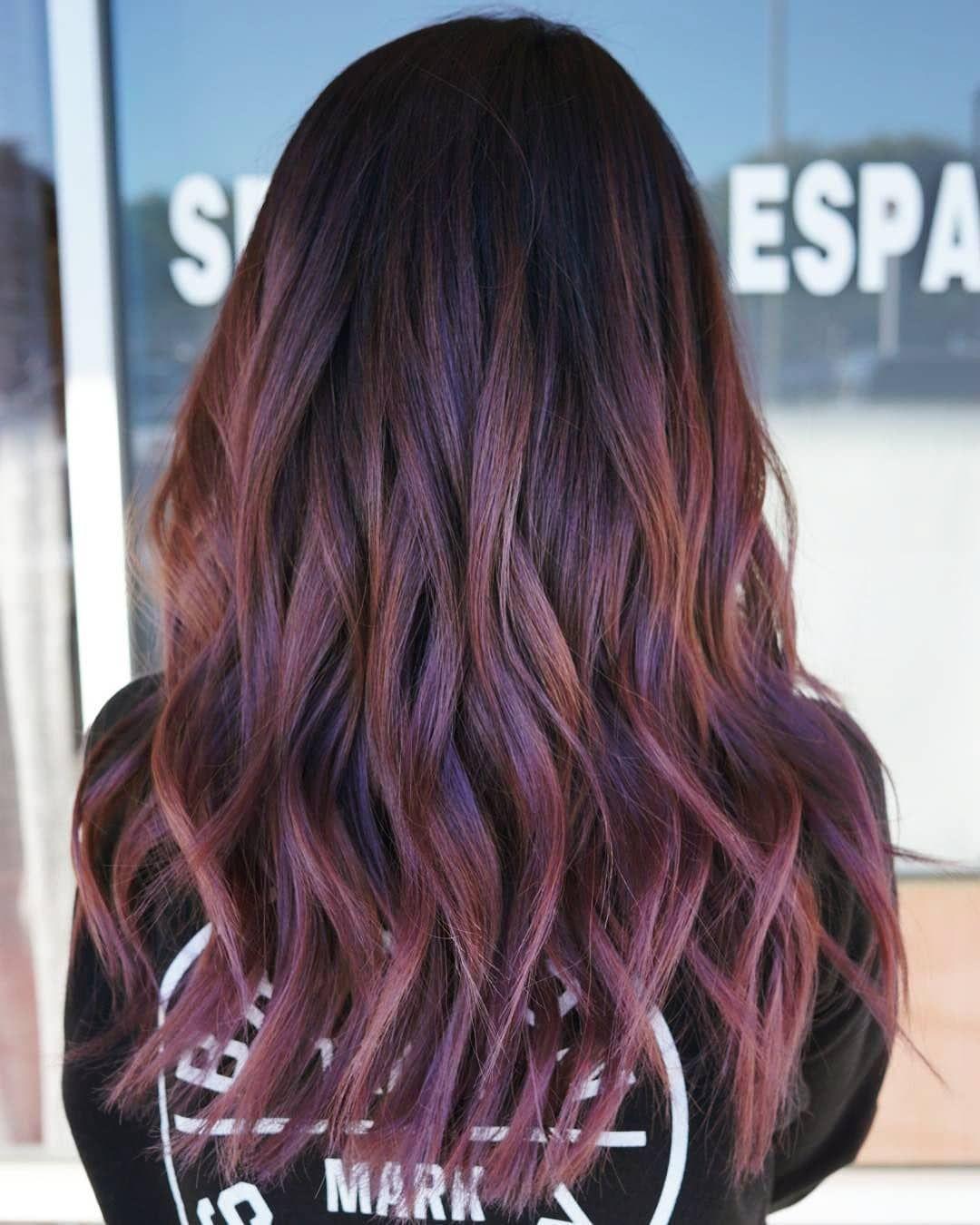 موضة قصات و صبغات شعر 2019 الوان صبغات شعر 2019 Fashion Hairstyles And Dyes 2019 Colors Hair Dy Brown Ombre Hair Purple Ombre Hair Best Ombre Hair