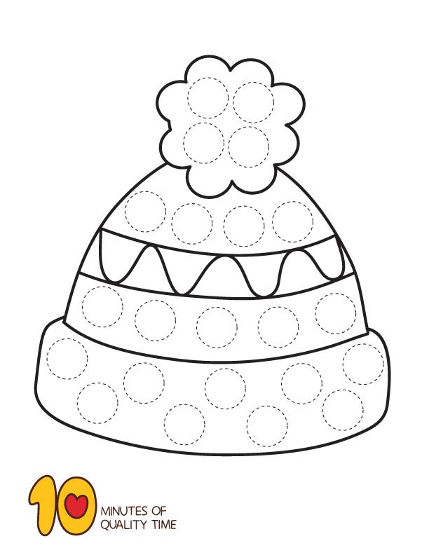 10 Winter Dot Art Printables Preschool Art Activities Bear Crafts Winter Activities For Kids