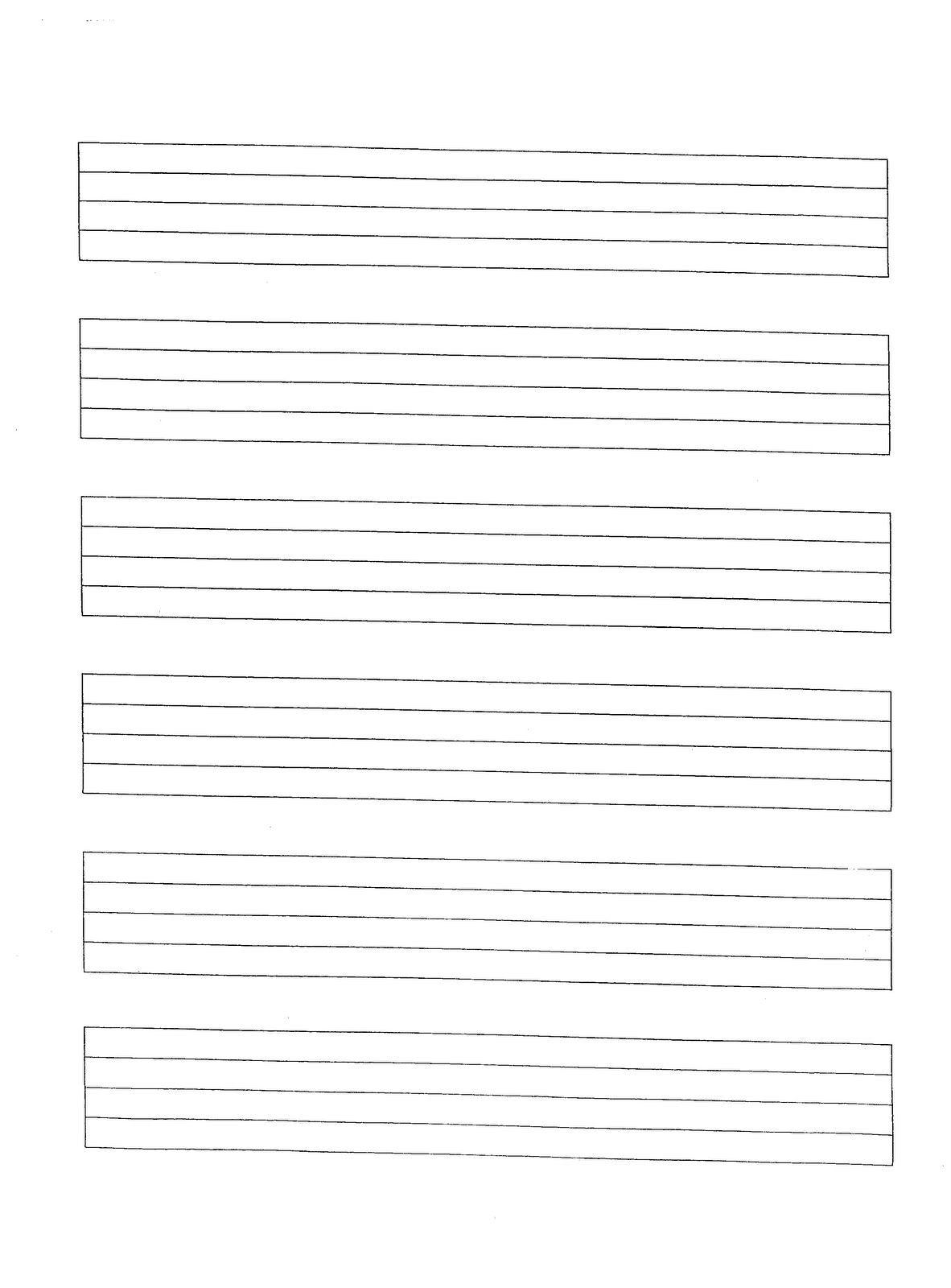 Music M Cript Paper Free Printable