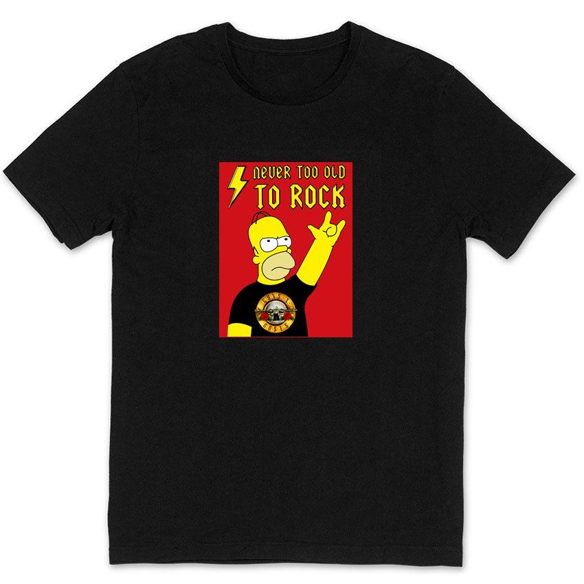 GNR IRON MAIDEN METALLICA JIMI HENDRIX KORN RATM AC/DC homer rock man t shirt