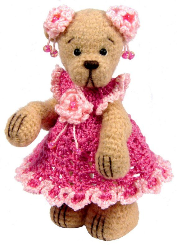 Miniature Thread Crochet Dress Pattern For Miniature Bears Pdf