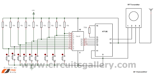 Multi Channel Remote Control System Circuits Gallery Home Automation System Circuit Diagram Electronic Engineering