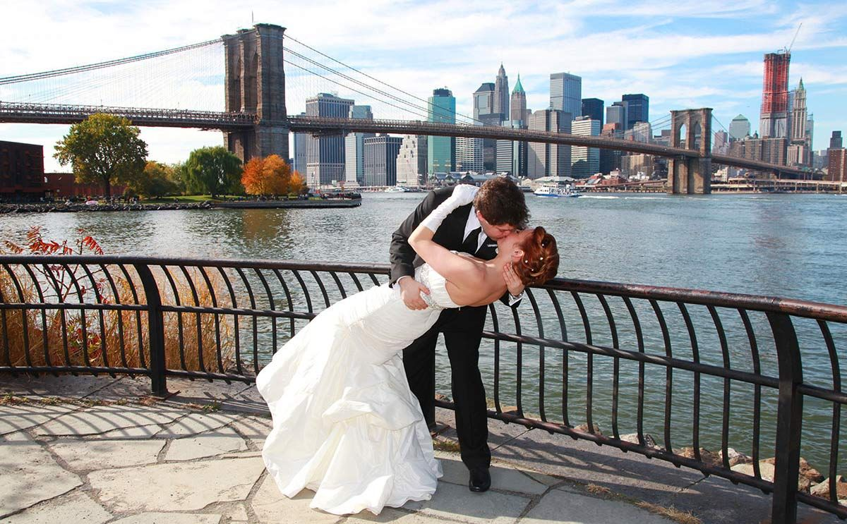 Wedding Pictures By The Bridge