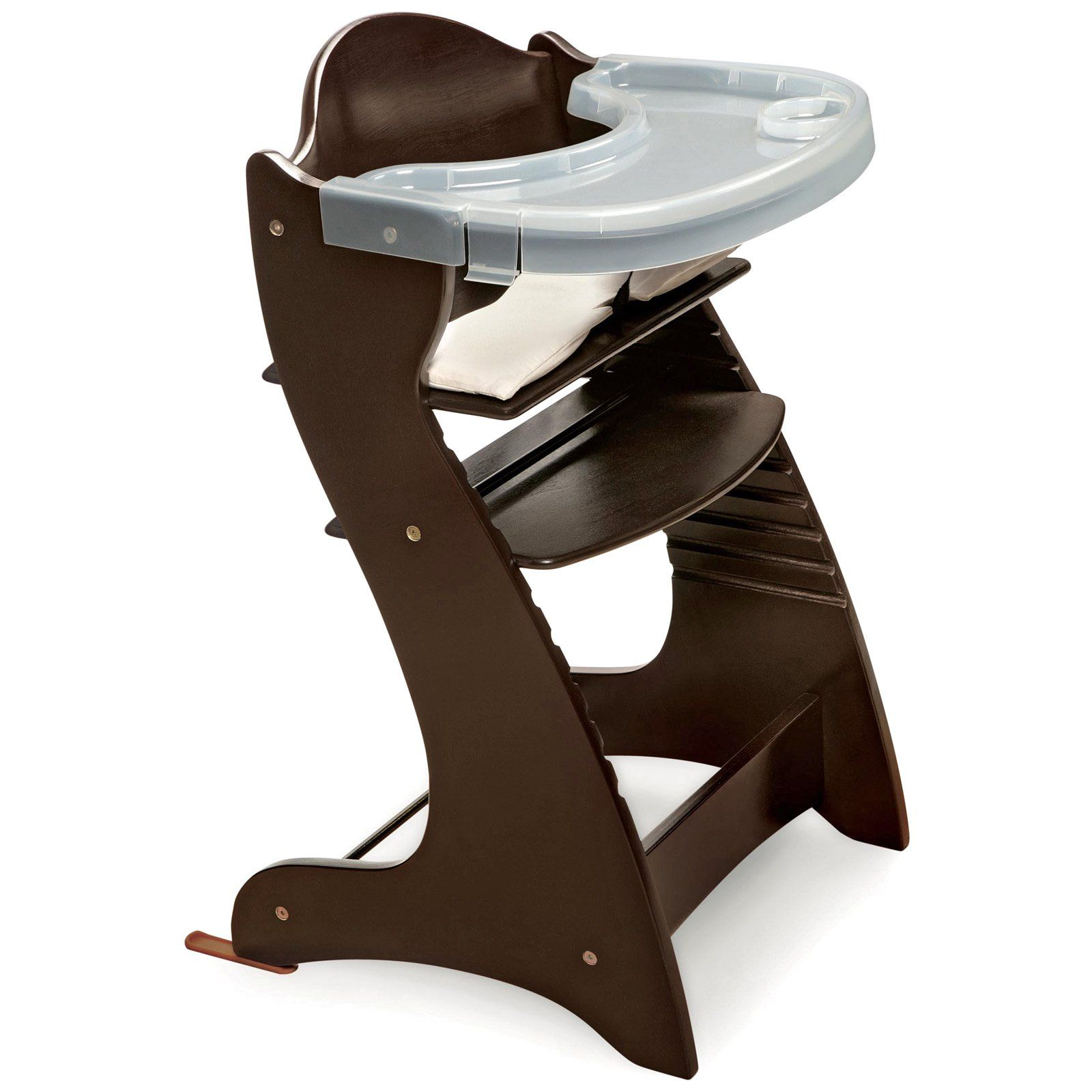 High Chair Tray Badger Basket Embassy Adjustable Wood High Chair With Tray