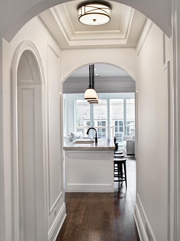 BeforeandAfter Kitchen Makeovers HGTV Small hallways