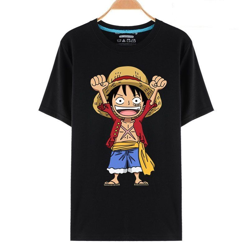 54e70b1b6 One Piece Chibi Luffy Monkey D Celebrate Anime T-Shirt | Nerd ...