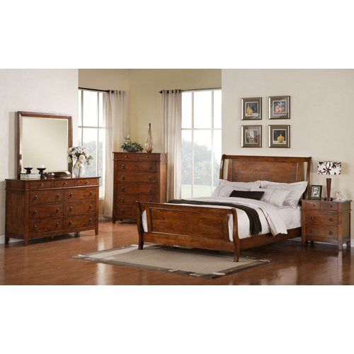 R Amp R Sleigh 5 Piece Configurable Bedroom Set 5 Piece Bedroom Set Bedroom Furniture Sets Furniture