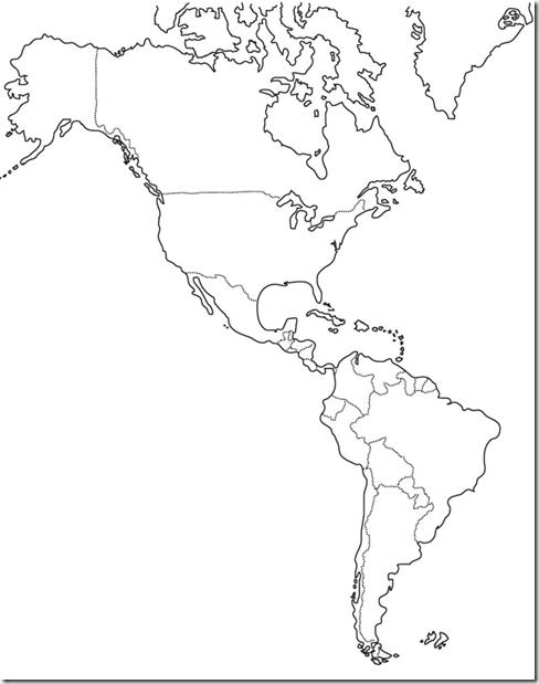 Lengua Castellana Y Literatura Mapa De America Para Imprimir World Map Printable World Geography Map World Map Wall Art