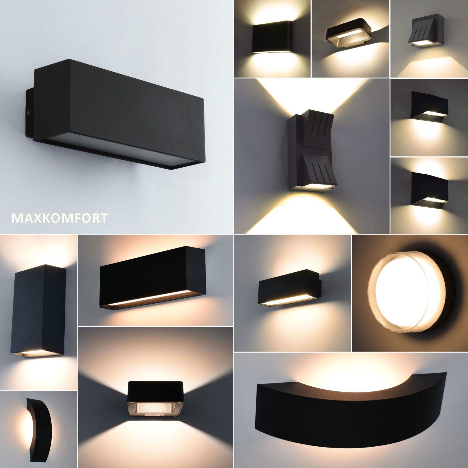 Led Aussenleuchte Wandleuchte Aussenlampe Wandlampe Gartenleuchte Aussenwandlampe Ebay Aussenlampe Wandleuchte Wandlampe