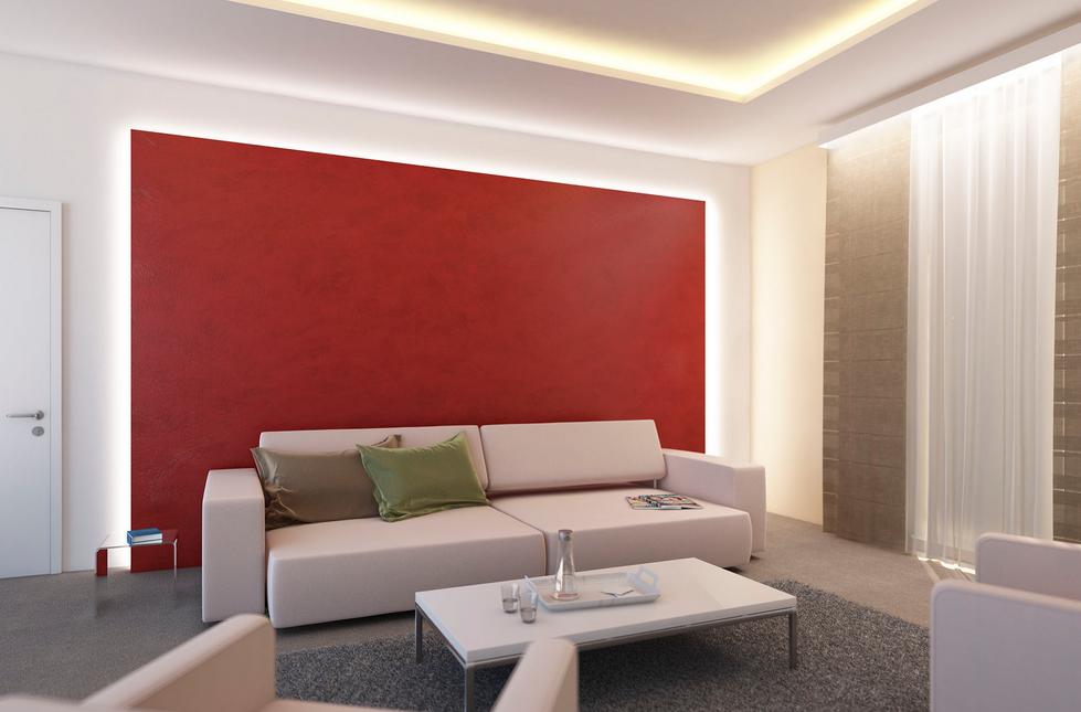 Indirektes Licht Wohnzimmer Das Zimmer Mit Der Beleuchtung Lampen