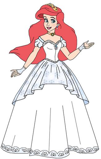 Ariel S Wedding Dress Restyle 2 Ariel Wedding Dress Ariel Ariel The Little Mermaid
