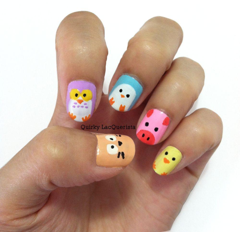 Animal nails cute nails animals and nails nail art pen animal nails prinsesfo Images
