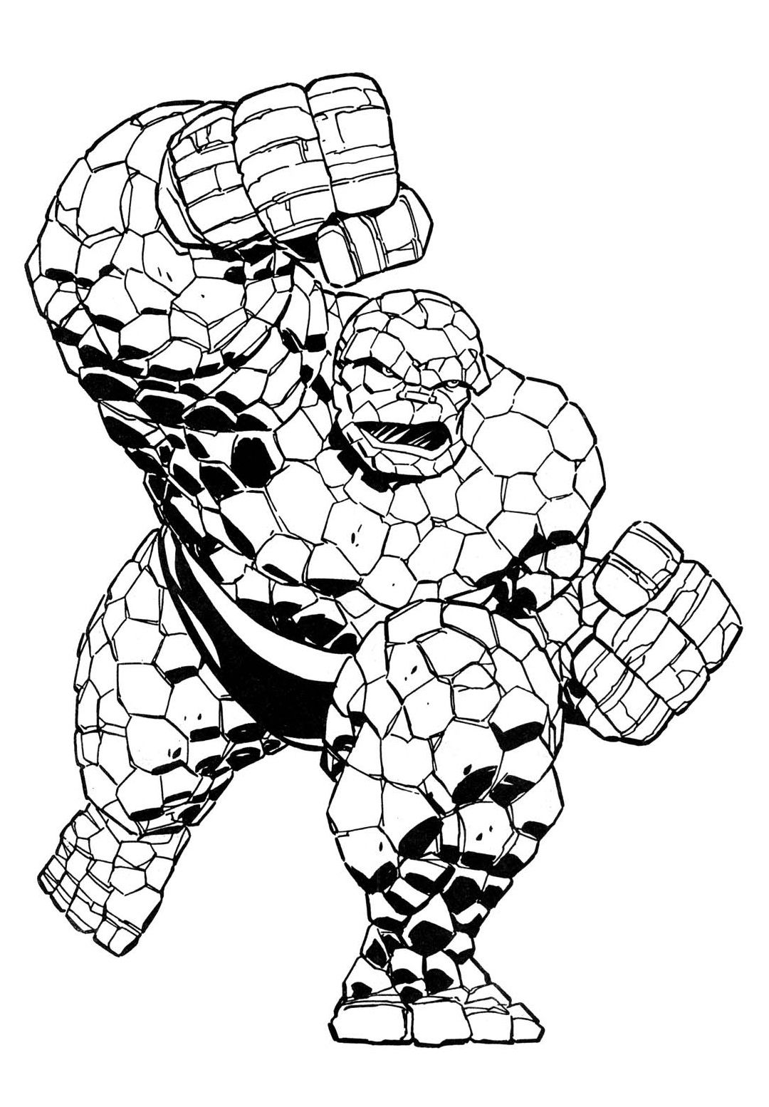 The Thing Marvel Comics Coloring Page Coloring Pages Marvel