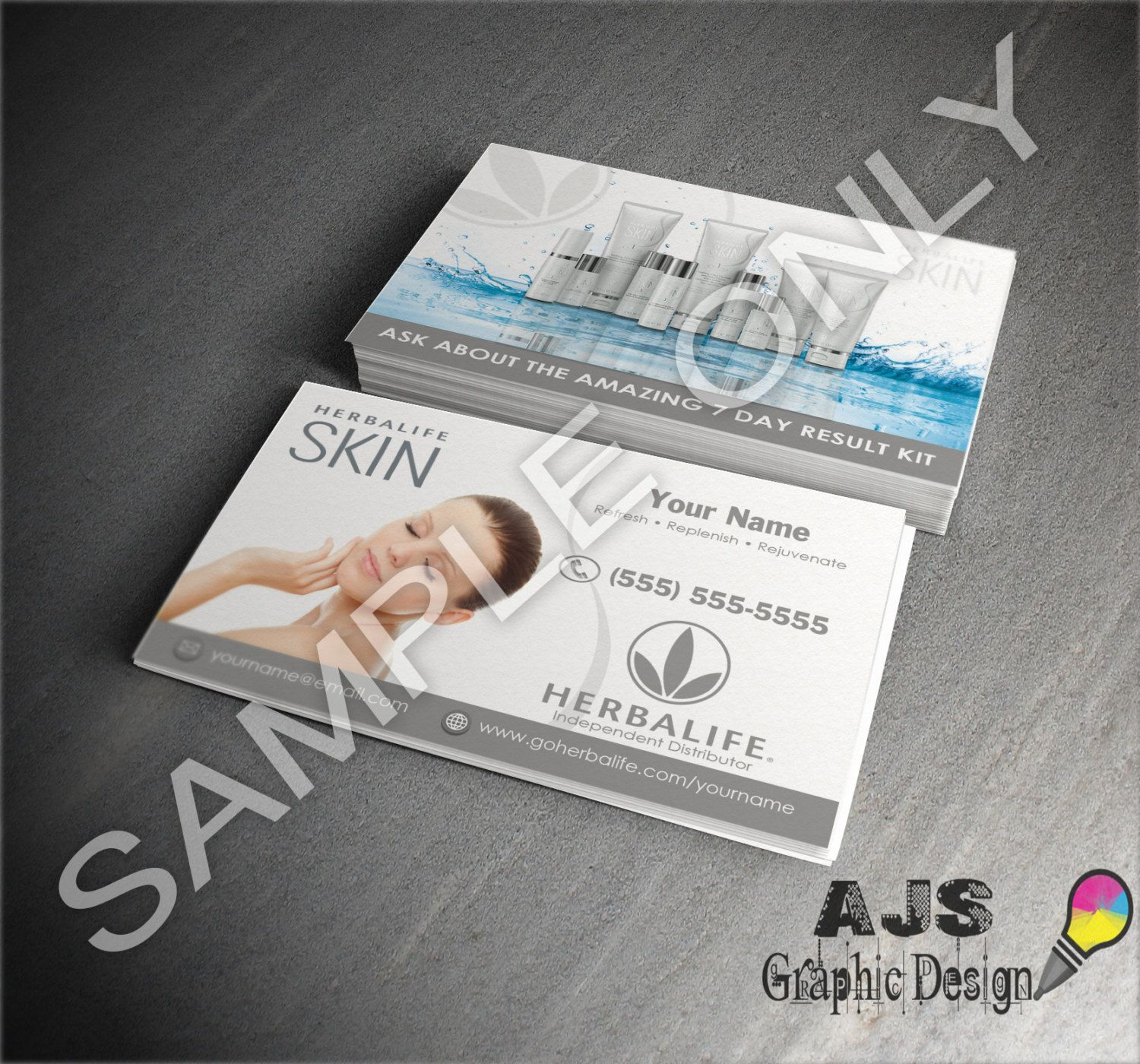 Herbalife Skin Custom Business Cards • Herbalife Graphics ...