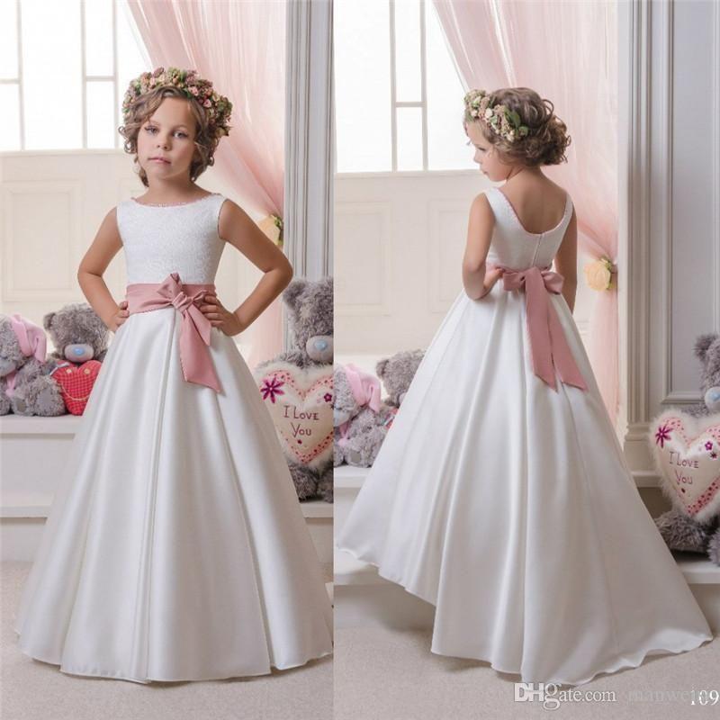 Vestidos baratos de las niñas de la flor para las bodas Vestidos de ...