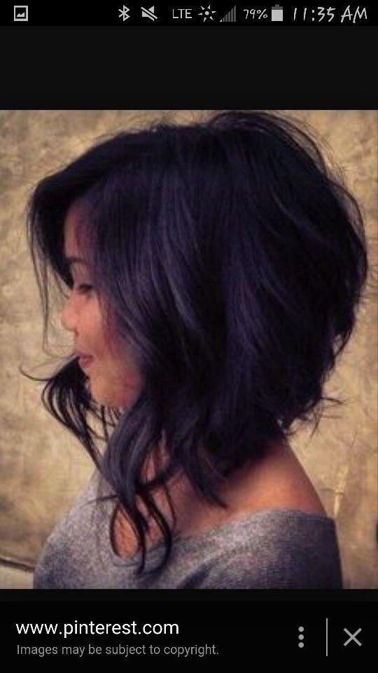 Triangular Graduation Haircut Hair Ideas Pinterest Haircut