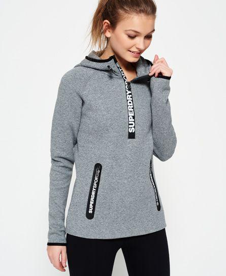 Superdry Gym Tech Half Zip Hoodie   Women Active Wear   Hoodies, Zip ... b288f1362a