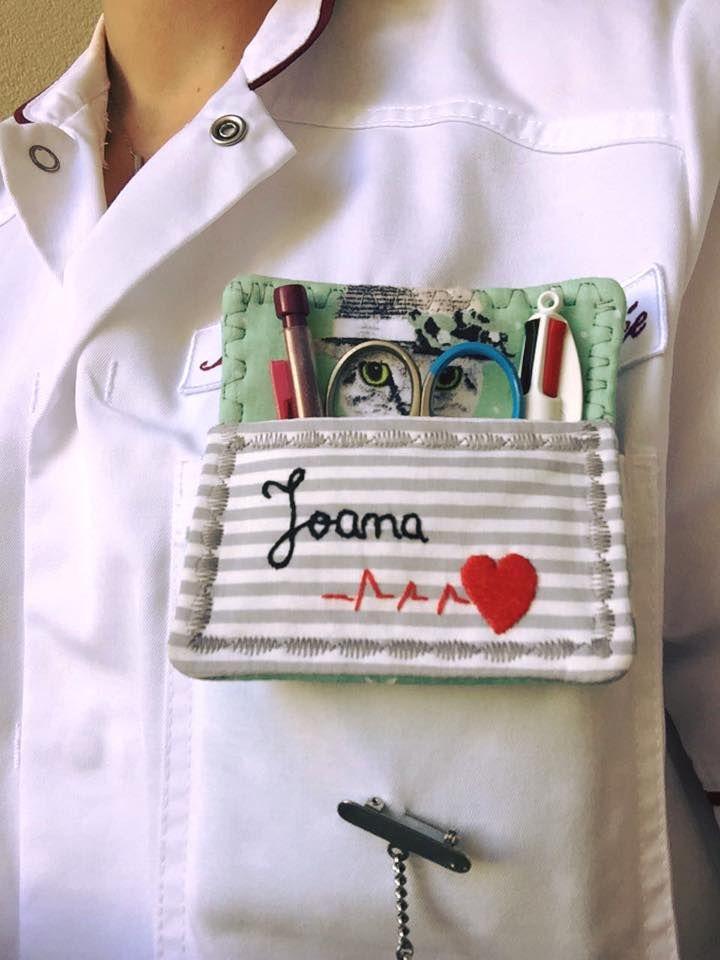 Bolsa Para Lapis Em Tecido : Porta canetas de bolso bolsa enfermeira