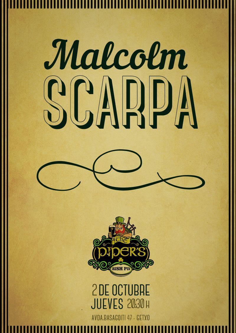 Cartel concierto Malcolm Scarpa por Cristina