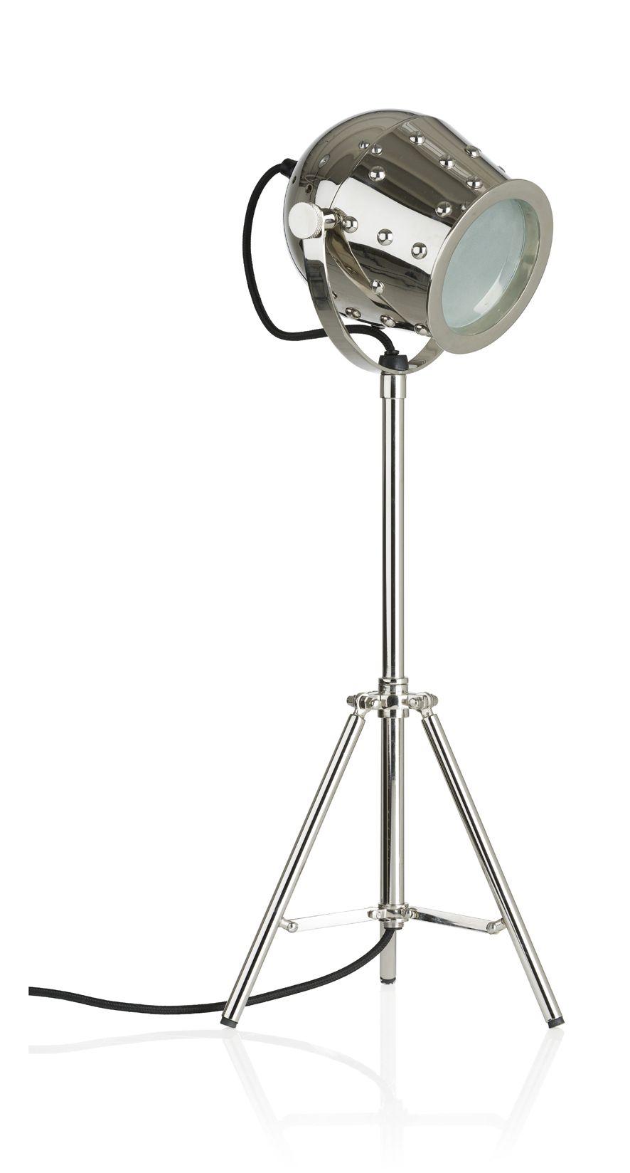 Stoere tafellamp Nagor metal