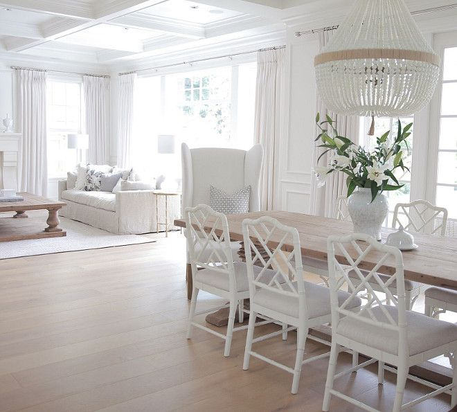 Bright White Home of JS Home Design | Wide plank, White oak and Plank