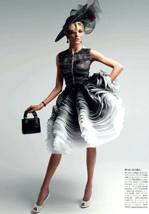 Anja Rubik by Patrick Demarchelier for Vogue Japan 2012