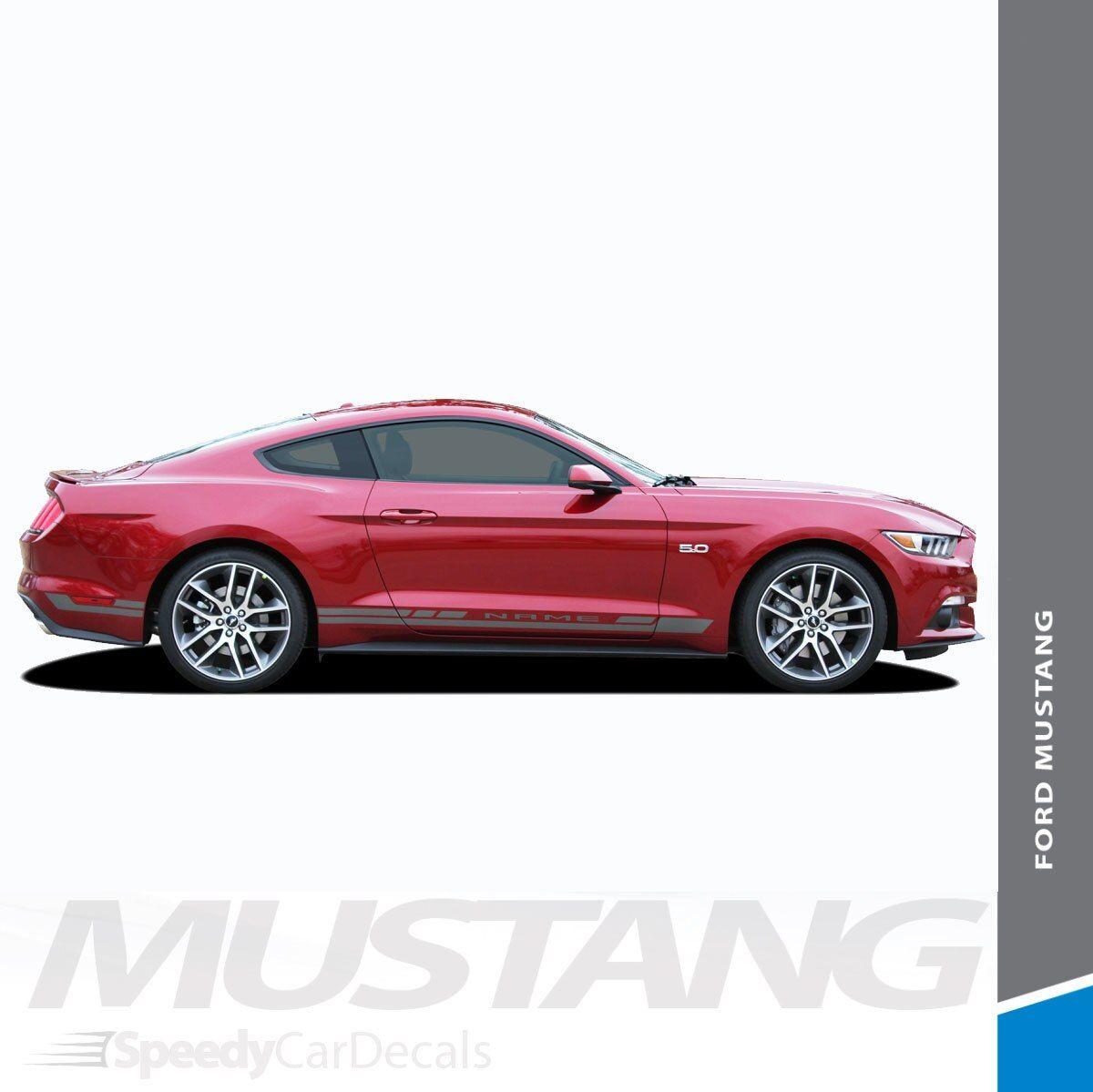 Ford Mustang Rocker Panel Door Side Stripes Decals HASTE 2015-2018