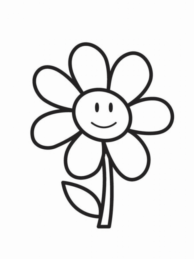 Free Coloring Pages For Kids Coloring Town Printable Flower Coloring Pages Flower Coloring Sheets Flower Coloring Pages