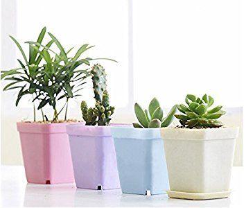 Lot De 14 Pots De Fleur Itemer Avec Soucoupes Pour Decoration D