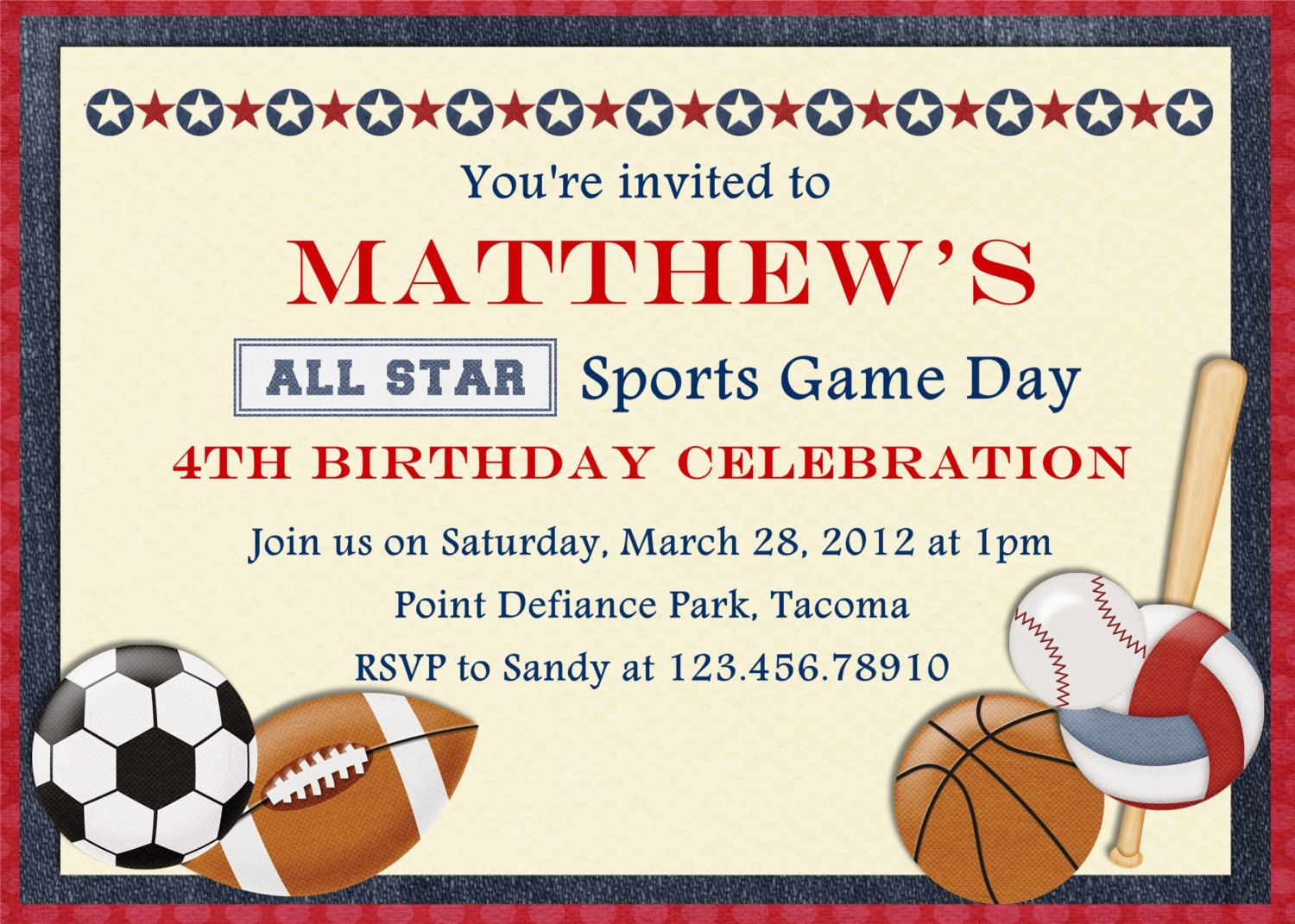 photo relating to Free Printable Sports Birthday Invitations known as Free of charge Printable Sports activities Birthday Showers and Events