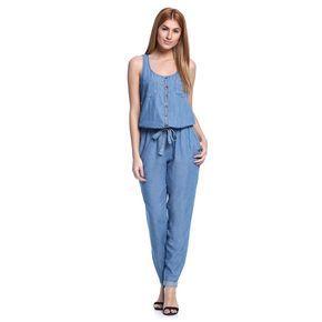 9a6fcf277 Macacão Longo Jeans - Damyller