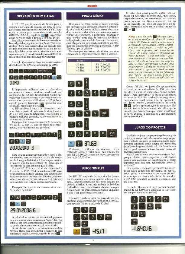 resum o hp 12c manual de instru o hp 12c muito util e pratico rh br pinterest com HP 12C User Manual HP 12C Online