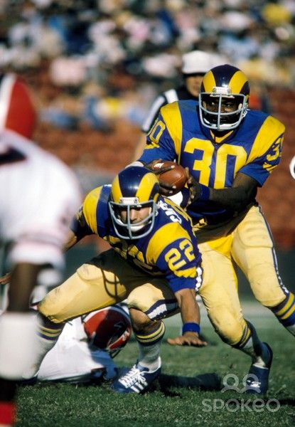 Lawrence McCutcheon (30) and John Cappelletti (22), Los Angeles Rams