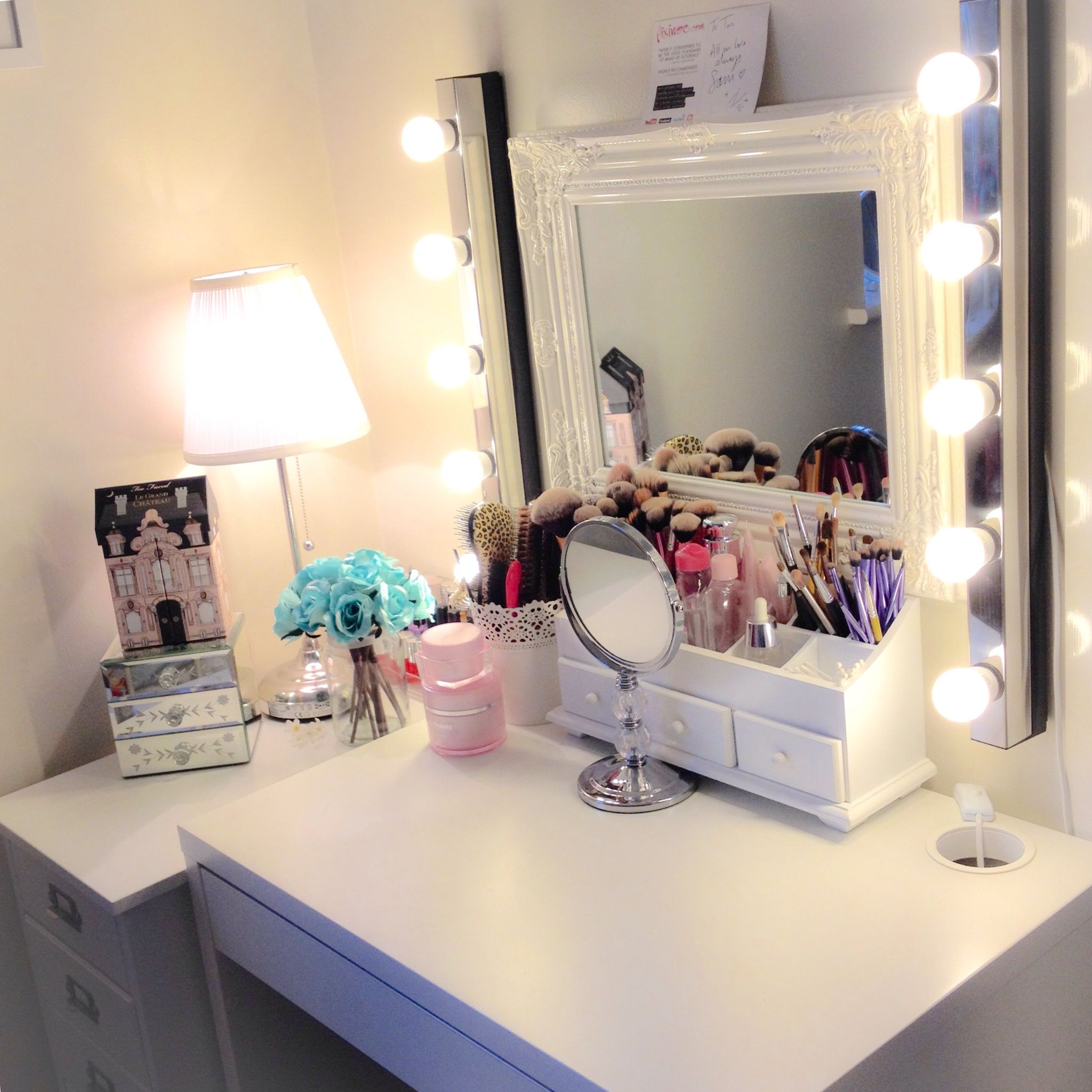 Girl Makeup Station Makeup Station Micke Desk By Ikea Girls Room Ideas