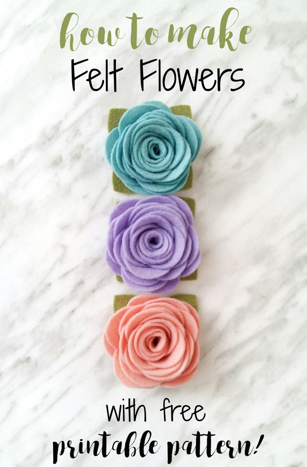 How to Make Felt Flowers - with free printable pattern! | Wildflower Felt Designs