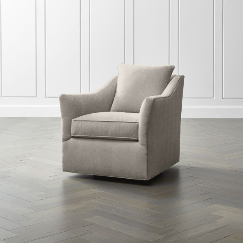 Keely 360 Swivel Chair | Crate And Barrel