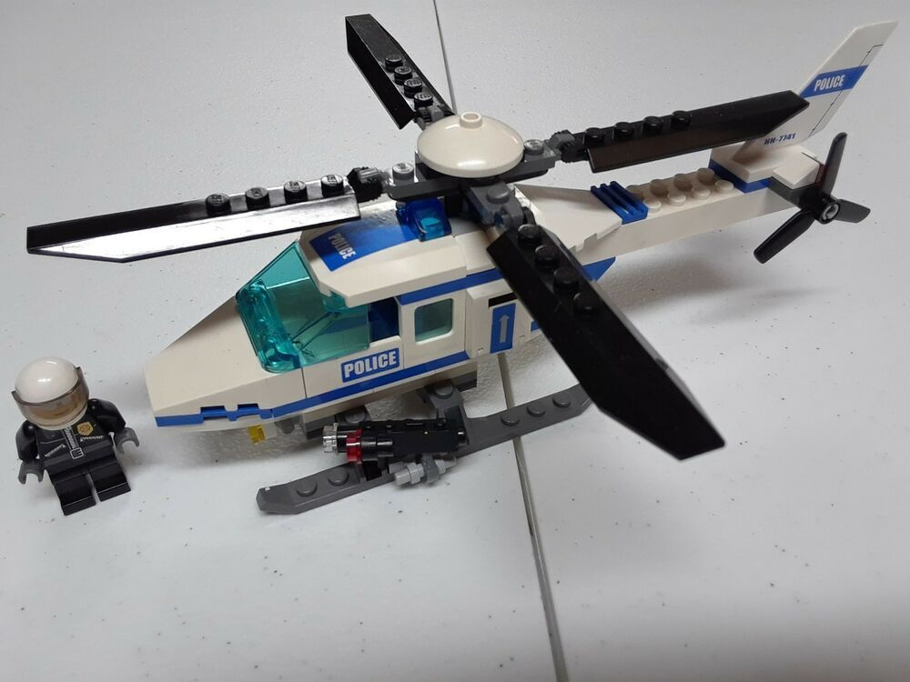 Lego City 7741 Police Helicopter With Minifigure Lego Lego City Lego City Police Cool Lego
