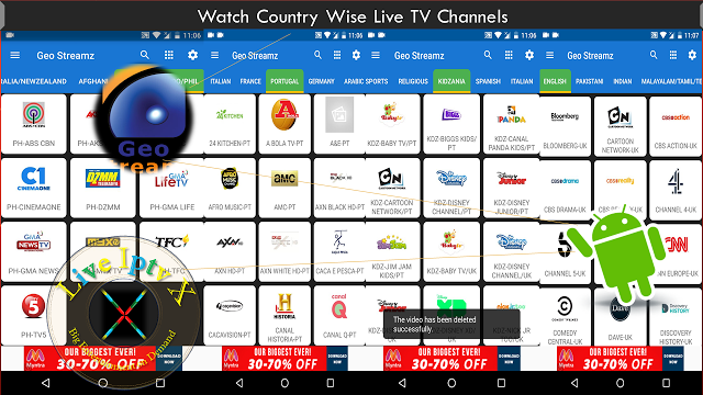 Watch TV Stream Online Geo Streamz Apk For FILIPINO