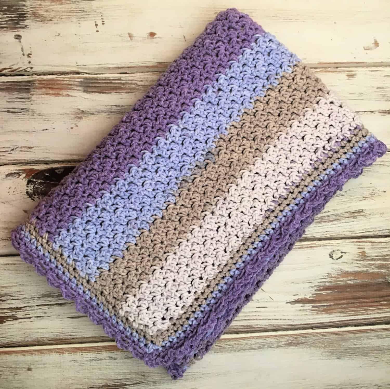 Amethyst Sky Baby Blanket Free Crochet Pattern Free Baby