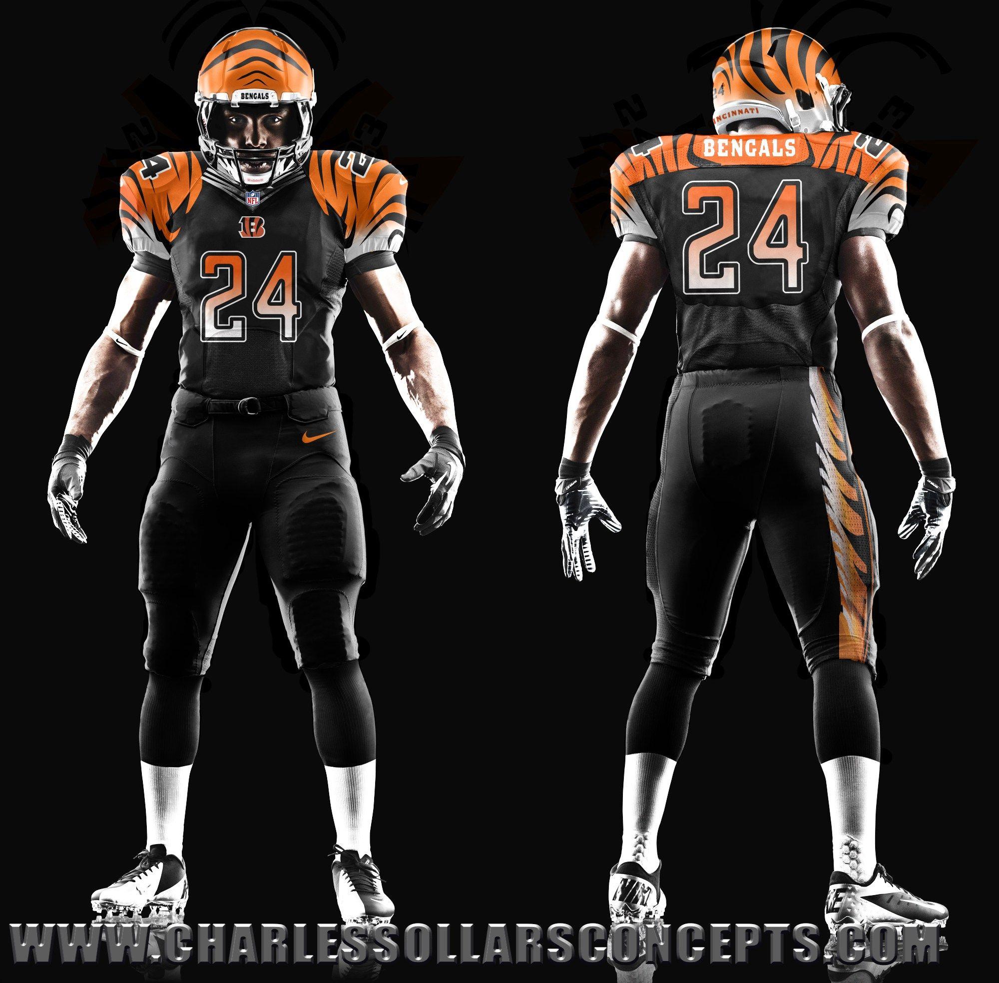 bengals all black jersey