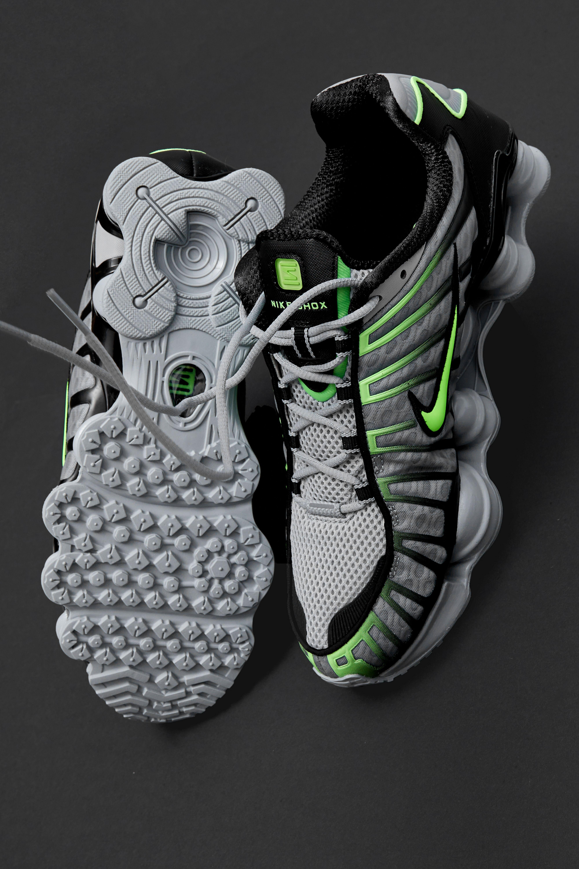 Indígena de Beber agua  Shox TL Trainers - Wolf Grey / Lime Blast | Nike shox, Nike, Nike fashion