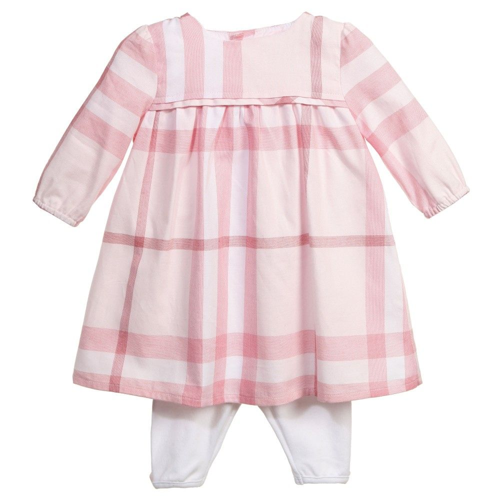 dfad5c351824 Burberry Baby Girls Pink Tunic Dress   Leggings Set at Childrensalon ...